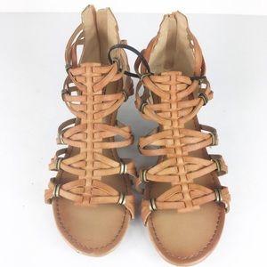 Seychelles Brown Boho Gladiator Ankle Sandals